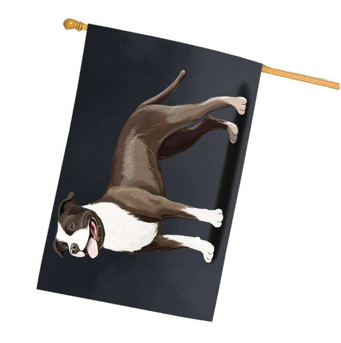 American Staffordshire Terrier Dog House Flag