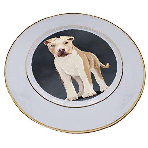 American Staffordshire Terrier Dog Porcelain Plate