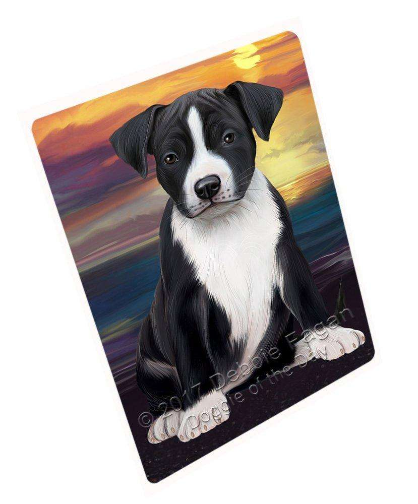 American Staffordshire Terrier Dog Tempered Cutting Board C49242