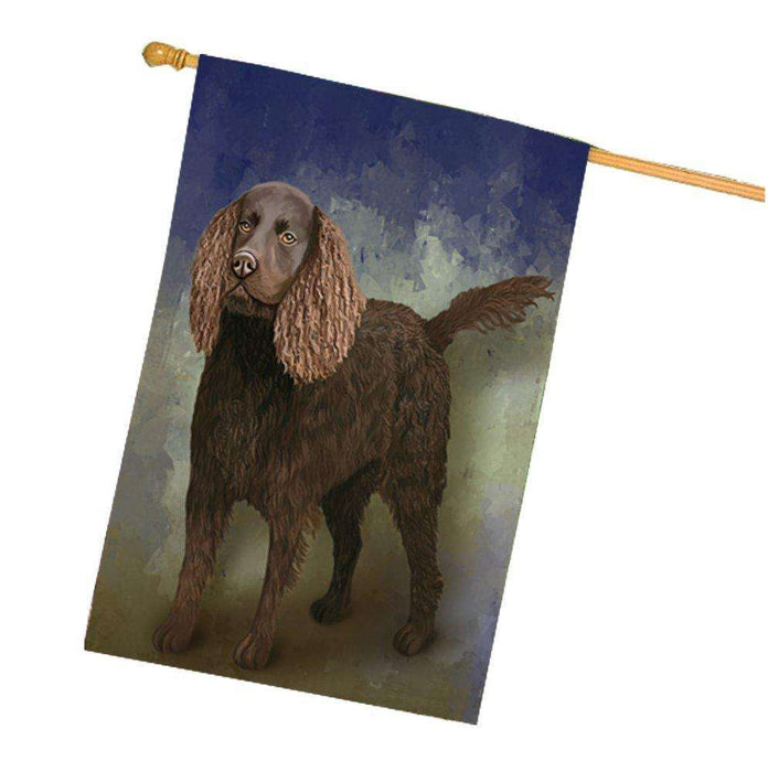 American Water Spaniel Dog House Flag