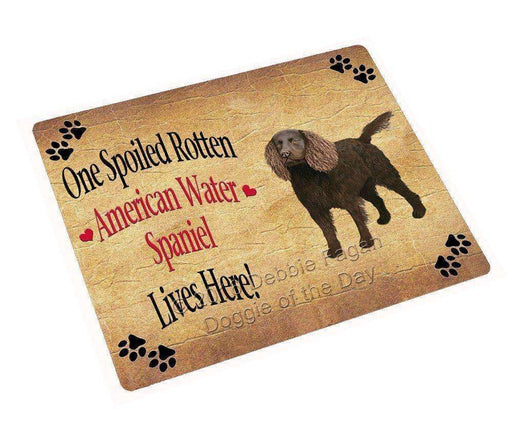 "American Water Spaniel Spoiled Rotten Dog Magnet Small (5.5"" x 4.25"")"
