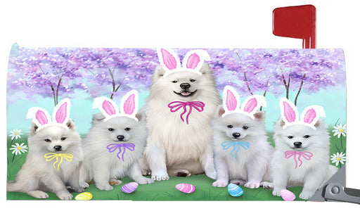 Easter Holidays American Eskimo Dogs Magnetic Mailbox Cover MBC48370