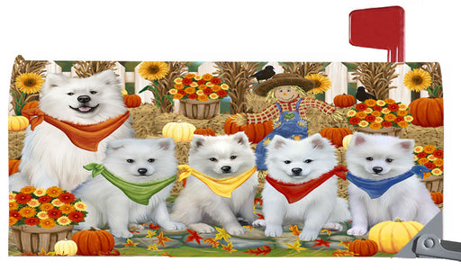 Magnetic Mailbox Cover Harvest Time Festival Day American Eskimos Dog MBC48005