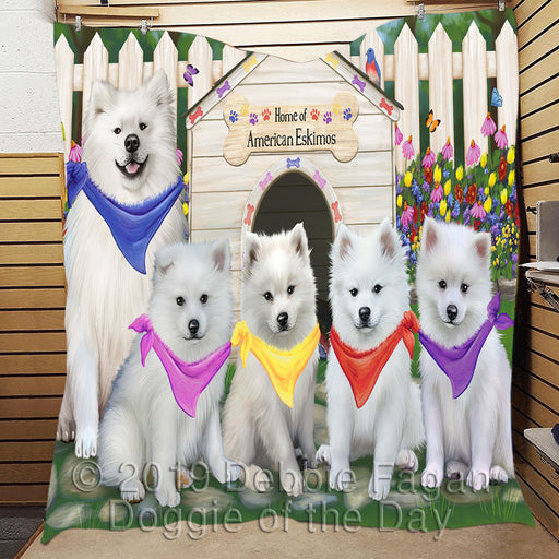 Personalized Spring Dog House American Eskimo Dogs Custom Garden Flags GFLG-DOTD-A62703