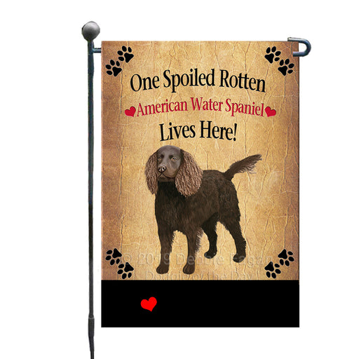 Personalized Spoiled Rotten American Water Spaniel Dog GFLG-DOTD-A63081