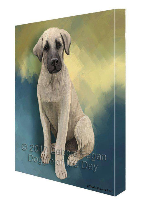 Anatolian Shepherd Puppy Dog Painting Printed on Canvas Wall Art