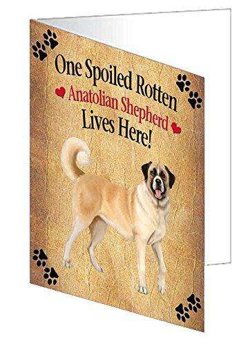 Anatolian Shepherd Spoiled Rotten Dog Greeting Card