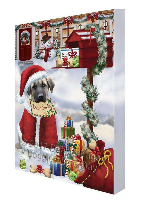 Anatolian Shepherds Dear Santa Letter Christmas Holiday Mailbox Dog Canvas Wall Art