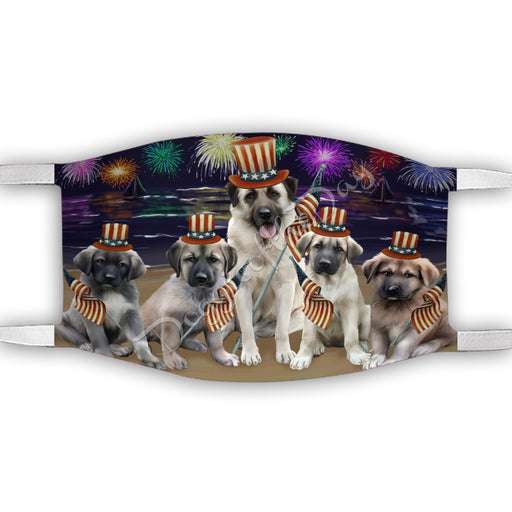 4th of July Independence Day Anatolian Shepherd Dogs Face Mask FM49368