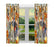 Fall Festive Harvest Time Gathering Anatolian Shepherd Dogs Window Curtain