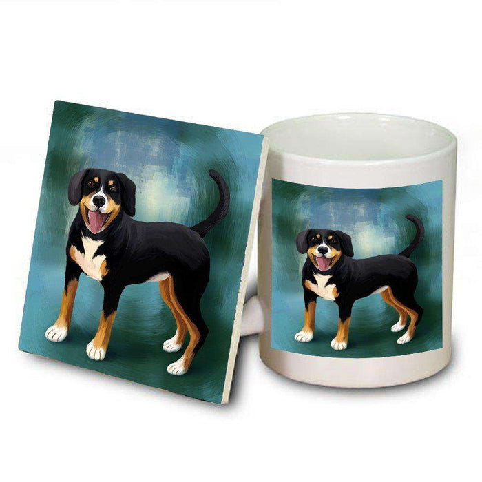Appenzeller Sennenhound Dog Mug and Coaster Set