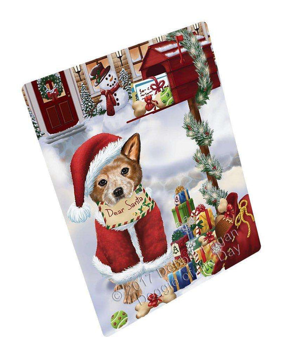 Australian Cattle Dear Santa Letter Christmas Holiday Mailbox Dog Art Portrait Print Woven Throw Sherpa Plush Fleece Blanket