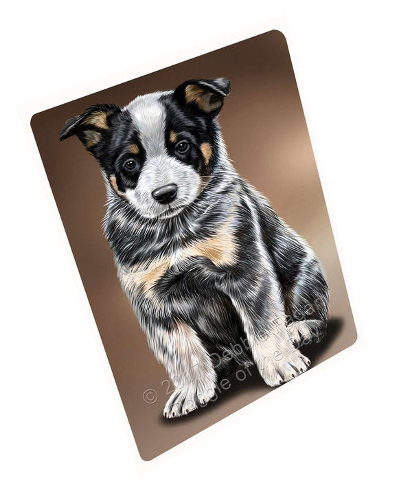 Australian Cattle Dog Art Portrait Print Woven Throw Sherpa Plush Fleece Blanket