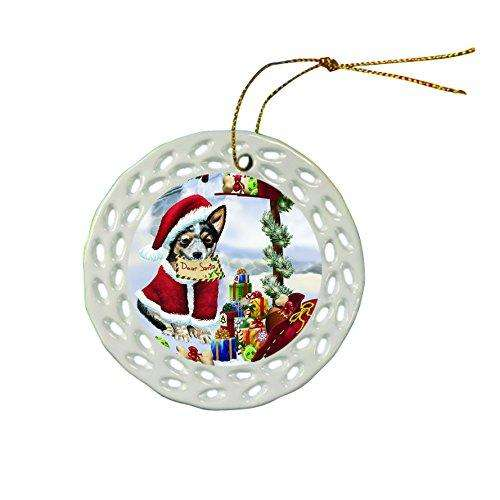 Australian Cattle Dog Christmas Doily Ceramic Ornament