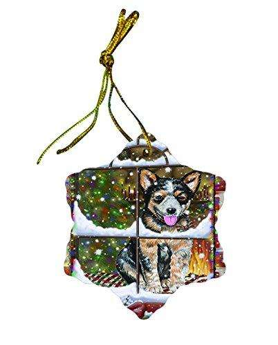 Australian Cattle Dog Dog Christmas Snowflake Ceramic Ornament