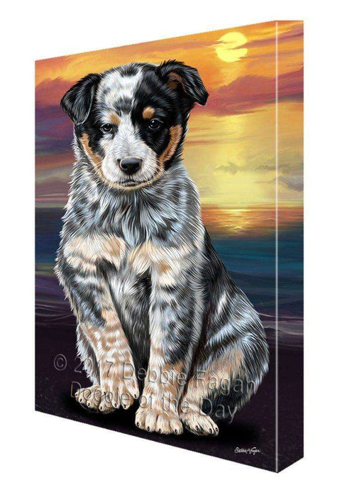 Australian Cattle Dog Painting Printed on Canvas Wall Art Signed