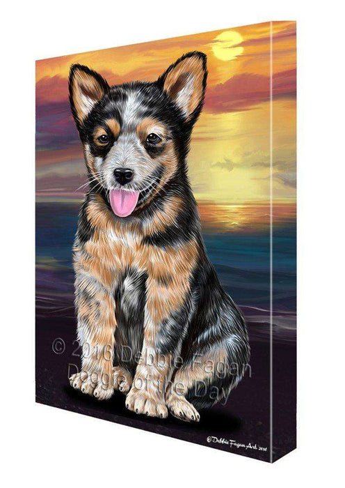 Australian Cattle Dog Painting Printed on Canvas Wall Art