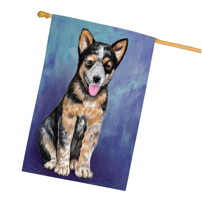 Australian Cattle Puppy Dog House Flag