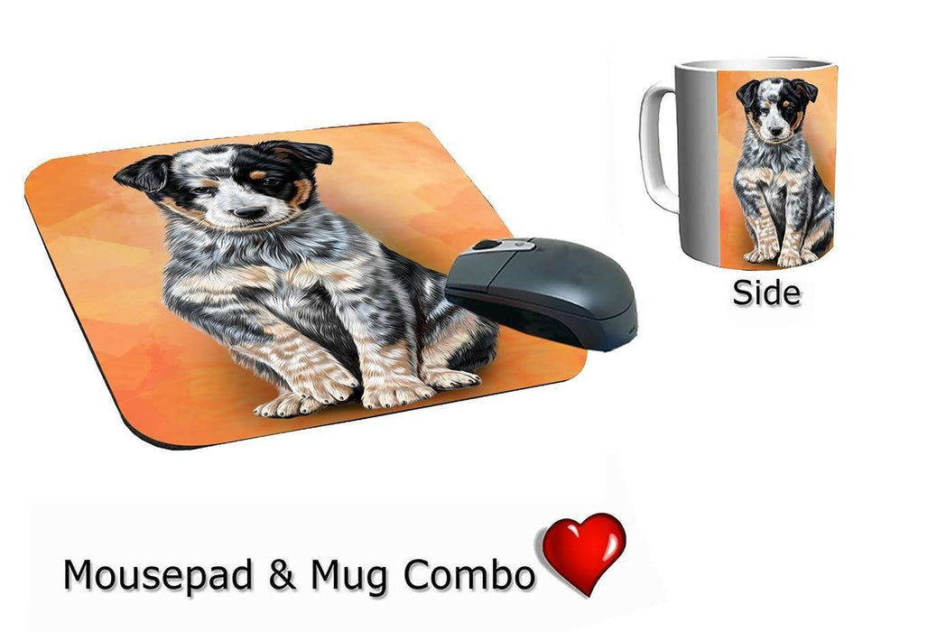 Australian Cattle Puppy Dog Mug & Mousepad Combo Gift Set