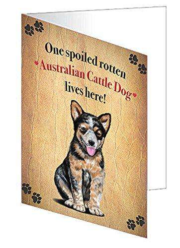 Australian Cattledog Spoiled Rotten Dog Greeting Card