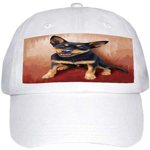 Australian Kelpie Black And Tan Dog Ball Hat Cap
