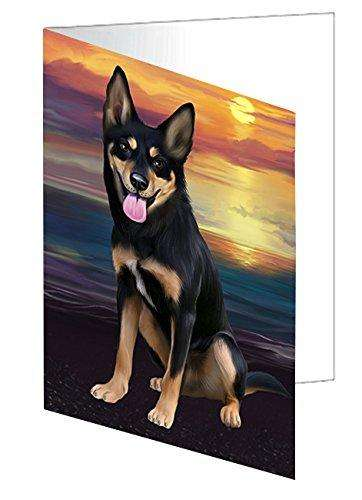 Australian Kelpies Dog Greeting Card D467