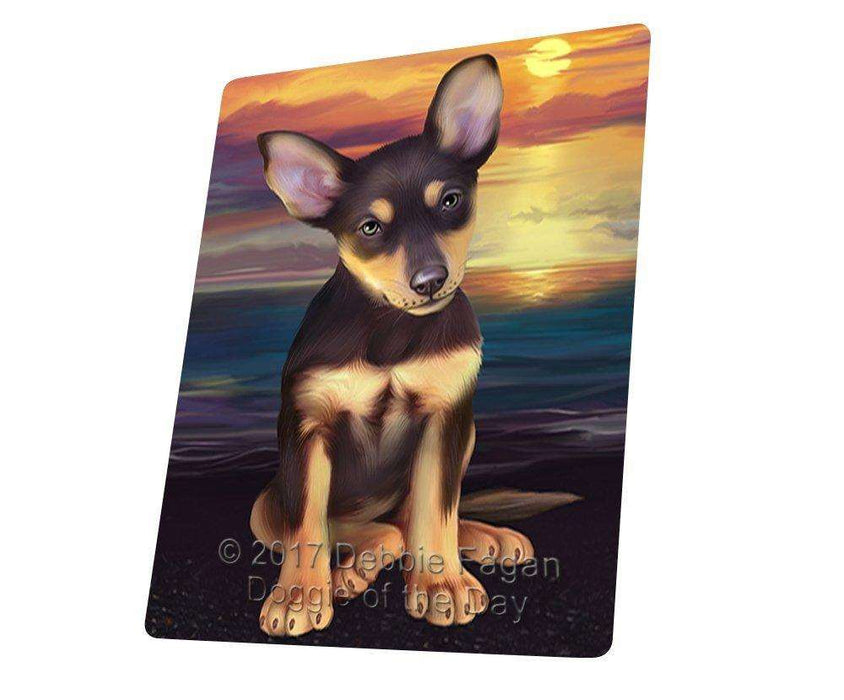 Australian Kelpies Dog Large Refrigerator / Dishwasher Magnet D385