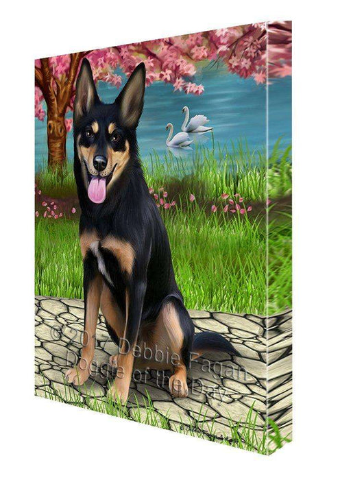 Australian Kelpies Dog Wall Art Canvas CV178