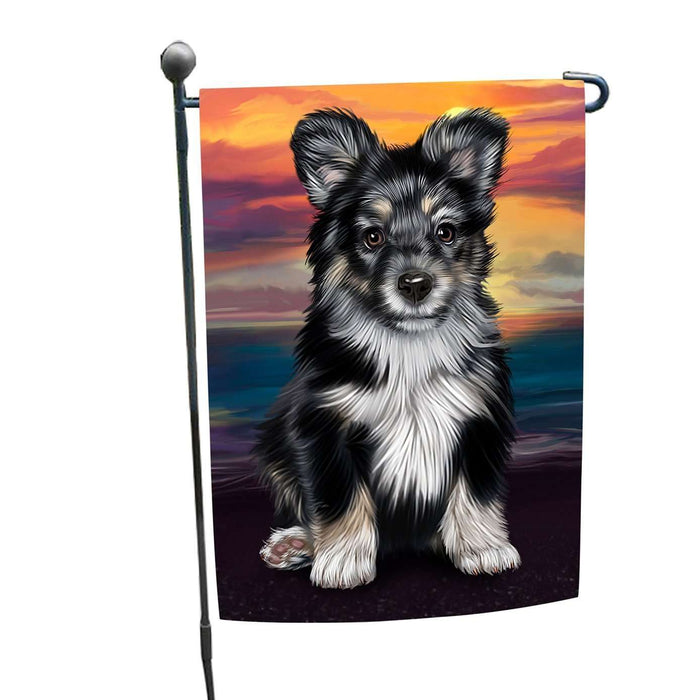 Australian Shepherd Black Puppy Dog Garden Flag