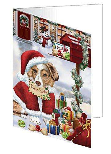 Australian Shepherd Dear Santa Letter Christmas Holiday Mailbox Dog Greeting Card