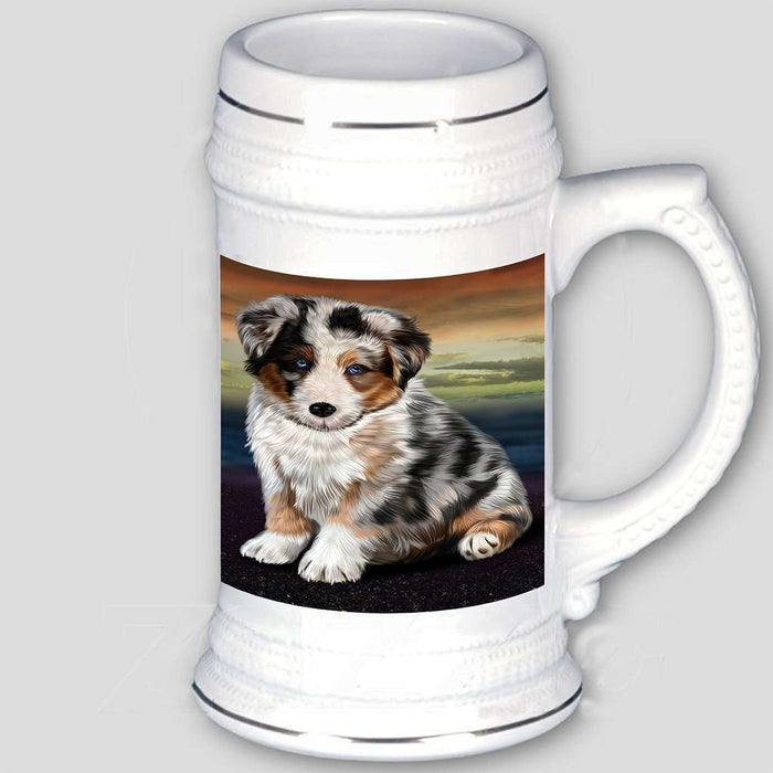 Australian Shepherd Dog Beer Stein