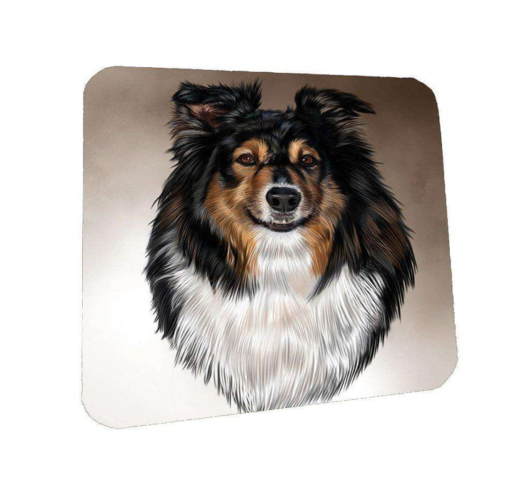Australian Shepherd Dog Coasters Set of 4