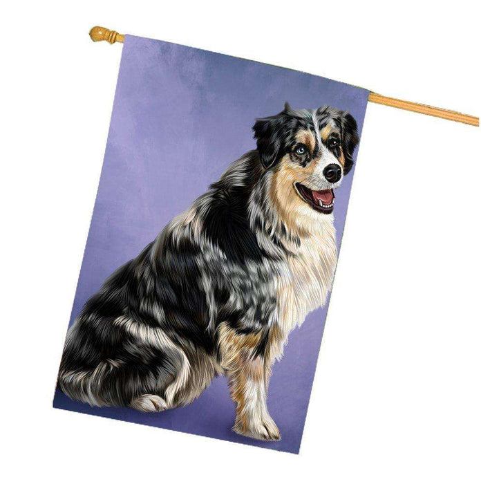 Australian Shepherd Dog House Flag