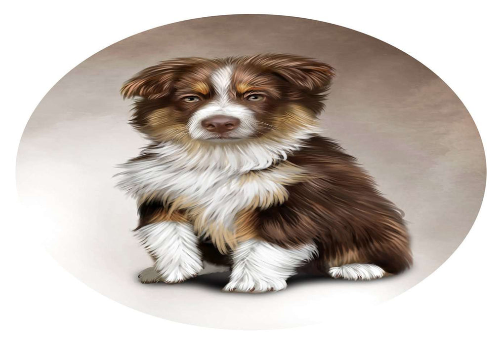 Australian Shepherd Dog Oval Envelope Seals