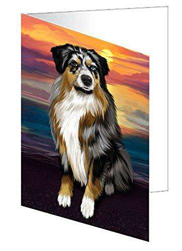 Australian Shepherd Gray Adult Dog Note Card