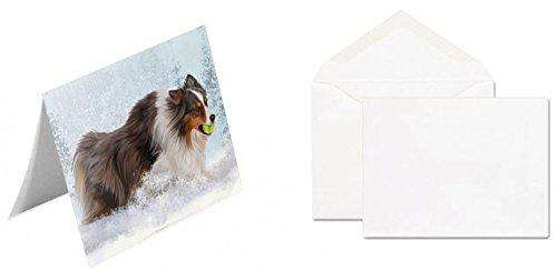 Australian Shepherd Red Merle Dog Greeting Card
