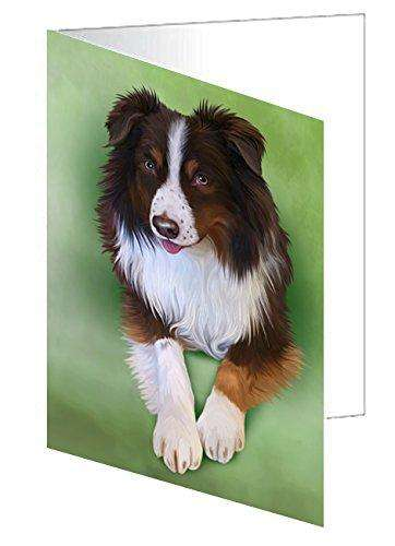 Australian Shepherd Red Tri Dog Note Card