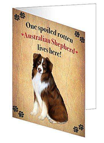 Australian Shepherd Spoiled Rotten Dog Greeting Card