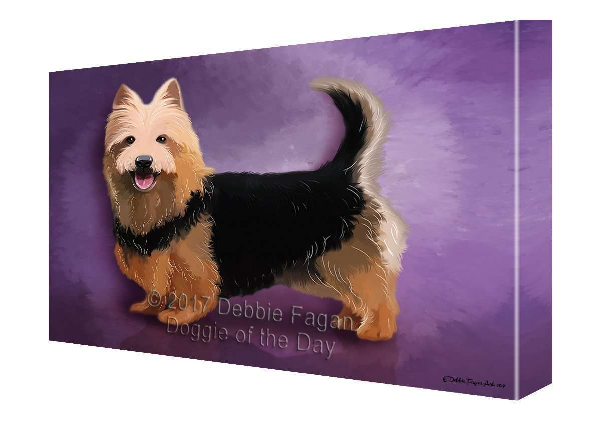 Australian Terrier Dog Painting Printed on Canvas Wall Art
