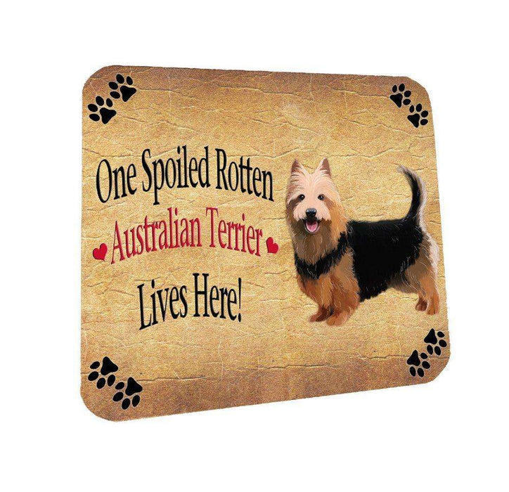Australian Terrier Spoiled Rotten Dog Coasters Set of 4