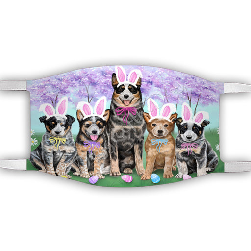 Easter Holiday Australian Cattle Dogs Face Mask FM49569