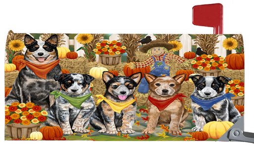 Magnetic Mailbox Cover Harvest Time Festival Day Australian Cattle Dogs MBC48008