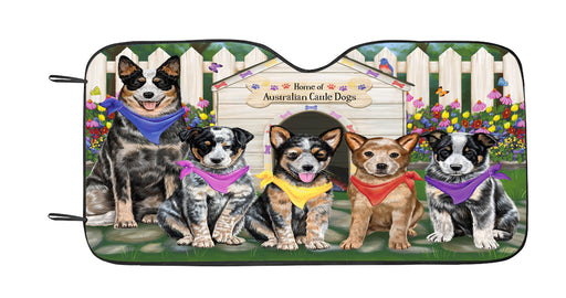 Personalized Spring Dog House Australian Cattle Dogs Custom Garden Flags GFLG-DOTD-A62715