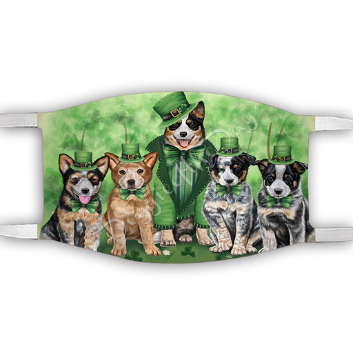 St. Patricks Day Irish Australian Cattle Dogs Face Mask FM50116