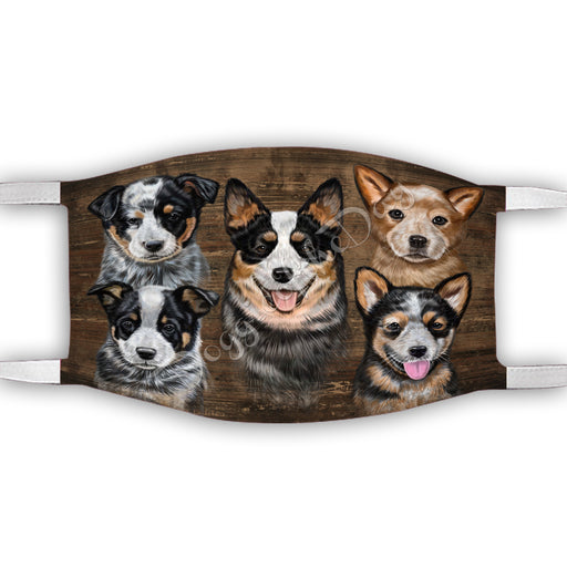 Rustic Australian Cattle Dogs Face Mask FM50019