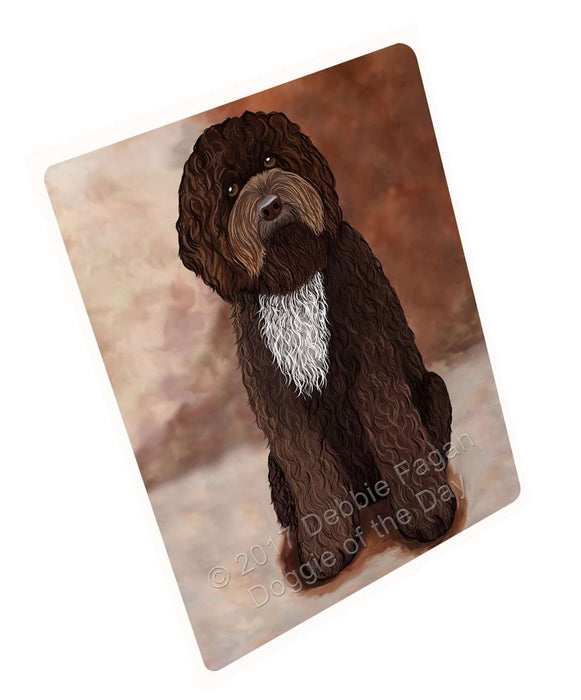 Barbet Brown Dog Art Portrait Print Woven Throw Sherpa Plush Fleece Blanket