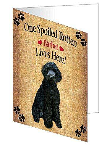 Barbet Spoiled Rotten Dog Note Card