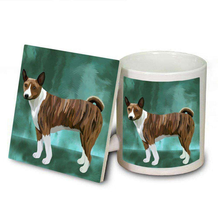 Basenji Dog Mug and Coaster Set