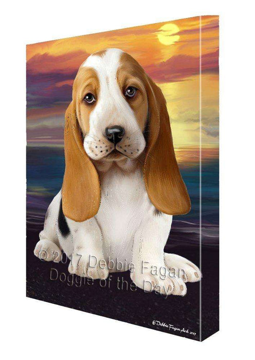 Basset Hound Dog Canvas Wall Art D381