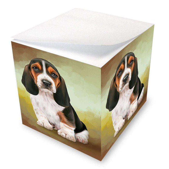 Basset Hound Dog Note Cube